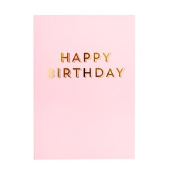 A6 GREETING CARD BIRTHDAY PINK: ESSENTIALS
