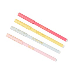 SLIM BALLPOINT PEN 4PK: INSPIRATION