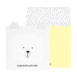 GREETING CARD CONGRATULATIONS GREY: YOU ARE SO LOVED (OUTLET)