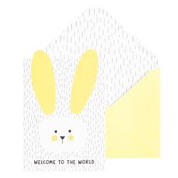 GREETING CARD WELCOME YELLOW: YOU ARE SO LOVED (OUTLET)