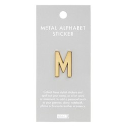 ALPHABET METAL STICKER M: ESSENTIAL