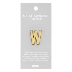 ALPHABET METAL STICKER W: ESSENTIAL (OUTLET)