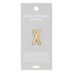 ALPHABET METAL STICKER X: ESSENTIAL (OUTLET)