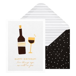 A6 GREETING CARD FEW THINGS AGE: BLACK