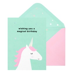 A6 GREETING CARD MAGICAL BIRTHDAY: LIGHT BLUE