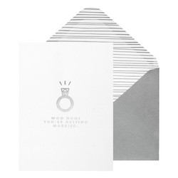 A6 GREETING CARD WOO HOO!: WHITE (OUTLET)