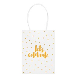 GIFT BAG SMALL CELEBRATE: WHITE