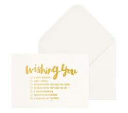GREETING CARD WISHING YOU GOLD: ALWAYS & FOREVER (OUTLET)