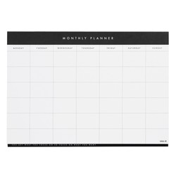 A4 MONTHLY PLANNER PAD WHITE: ESSENTIALS