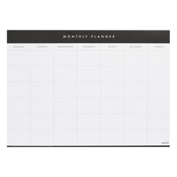 A2 MONTHLY PLANNER PAD WHITE: ESSENTIALS