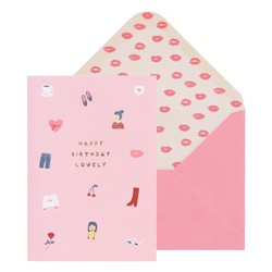 A6 GREETING CARD BIRTHDAY LOVELY: THERE SHE IS (OUTLET)