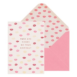A6 GREETING CARD KISSES: THERE SHE IS (OUTLET)
