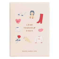 QUOTE CARDS WITH WOODEN STAND 12PK: THERE SHE IS (OUTLET)