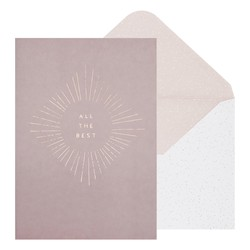 B5 GREETING CARD ALL THE BEST MIST GREY: GREETING CARDS (OUTLET)
