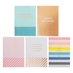GREETING CARDS 5PK BIRTHDAY: INSPIRATION