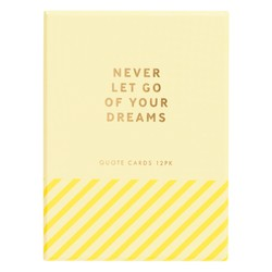 QUOTE CARDS WITH WOODEN STAND 12PK: INSPIRATION