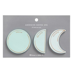 ADHESIVE NOTES 3PK: TERERAI TRENT X KIKKI.K (OUTLET)