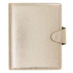 PU LEATHER PERSONAL PLANNER LARGE GOLD SHIMMER: SHE SHINES (OUTLET)