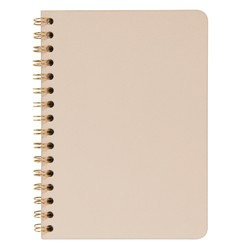A5 FLEXI LEATHER SPIRAL NOTEBOOK ALMOND: SIGNATURE EDITION