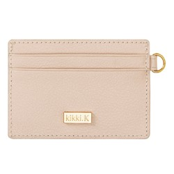 LEATHER CARD HOLDER ALMOND: SIGNATURE EDITION