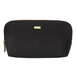 LEATHER CURVE POUCH JET BLACK: SIGNATURE EDITION
