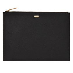 LEATHER POUCH LARGE JET BLACK: SIGNATURE EDITION