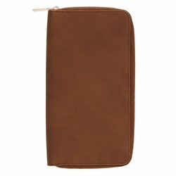 CONTINENTAL WALLET WITH ZIP MAPLE: SIGNATURE EDITION (OUTLET)