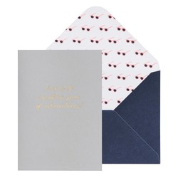 A6 GREETING CARD YEAR OF ADVENTURES MIST GREY: JOURNEY (OUTLET)