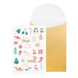 ADVENT GREETING CARD WHITE: CHRISTMAS