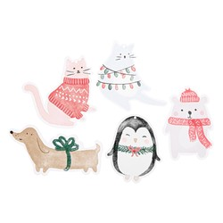 GIFT TAGS 10PK POP MULTI: CHRISTMAS (OUTLET)