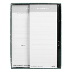 SHOPPING LIST LIVING WELL GIFT SET WHITE/GREY