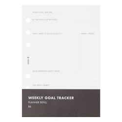 B6 PLANNER REFILL WEEKLY GOAL TRACKER WHITE: ESSENTIALS