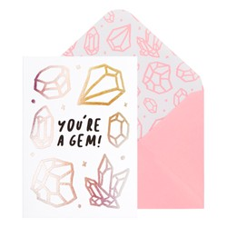A6 GREETING CARD YOURE A GEM WHITE: GREETING CARDS