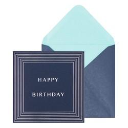 SQ GREETING CARD HAPPY BIRTHDAY DEEP BLUE: GREETING CARDS