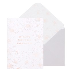 A6 GREETING CARD FOUND EACH OTHER WHITE: GREETING CARDS (OUTLET)