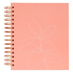 2020/2021 18-MONTH WEEKLY DIARY LARGE DUSTY CORAL: SELF (OUTLET)