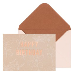 PERSONALISED GREETING CARD BIRTHDAY ALMOND: SELF