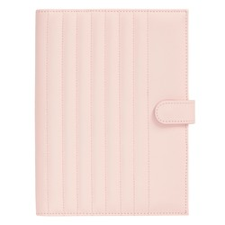 A5 QUILTED NOTEBOOK HOLDER BLUSH: SELF