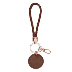 LEATHER BRAIDED KEY RING MAPLE: SELF
