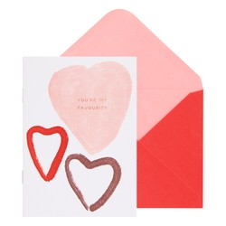 A6 MEMORY BOOKLET GREETING CARD POWDER ROSE : VALENTINE'S DAY (OUTLET)