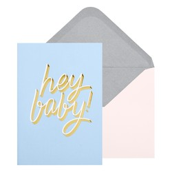 A6 GREETING CARD HEY BABY BLUEBELL: CELEBRATION