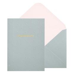 A6 GREETING CARD CONGRATULATIONS GREY: CELEBRATION