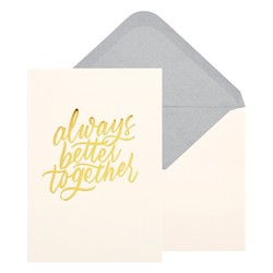 A6 GREETING CARD BETTER TOGETHER ALMOND: CELEBRATION