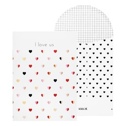 A6 MEMORY BOOKLET GREETING CARD WHITE: CHOOSE LOVE