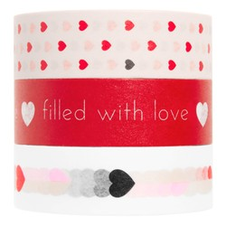 PRINTED PAPER TAPE 3PK POPPY RED: CHOOSE LOVE
