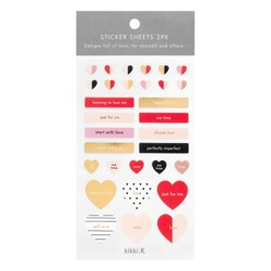 STICKER SHEET 2PK BLUSH: CHOOSE LOVE