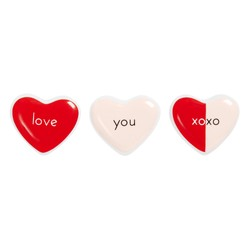 PORCELAIN LOVE MAGNETS 3PK BLUSH: CHOOSE LOVE