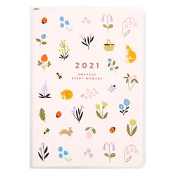 2021 A6 WEEKLY DIARY BLUSH