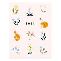 2021 SMALL WALL CALENDAR BLUSH