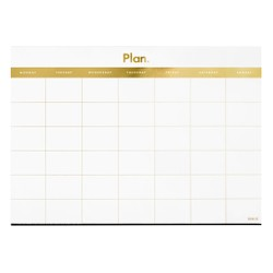 A2 MONTHLY PLANNER PAD GOLD: ESSENTIALS